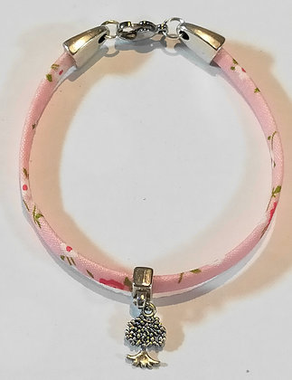 Bracelet enfant liberty rose/arbre