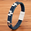 Thumbnail: Bracelet tendance en cuir véritable bleu 15