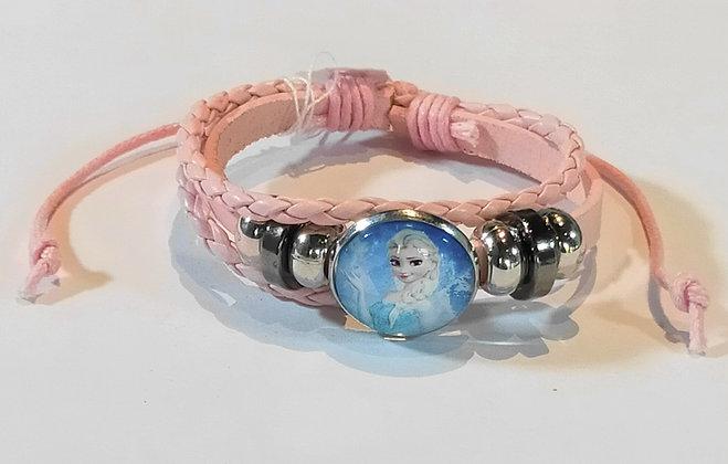 Bracelet enfant reine des neiges rose ou bleu