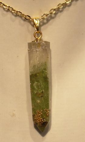 Saphir pierres naturelle vert&or