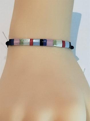 Bracelet duo multi couleur réglable