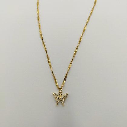 Chaîne papillon/doré