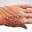 Thumbnail: Bracelet-bague argenté rose 4 rangs