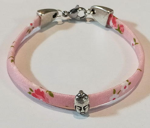 Bracelet enfant liberty rose/bouddha