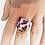 Thumbnail: Bague réglable ronde panthère rose poilue