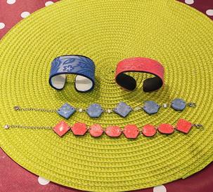 Bracelets en porcelaine froide