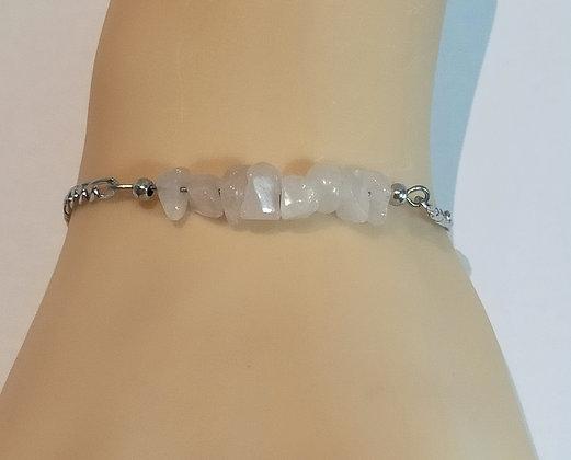 Bracelet argent/violet améthyste