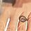 Thumbnail: Bague réglable Om violette