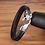 Thumbnail: Bracelet en cuir véritable noir serpent 3