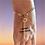 Thumbnail: Bracelet soleil chaine feuille doré