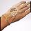 Thumbnail: Bracelet-bague celtique argenté