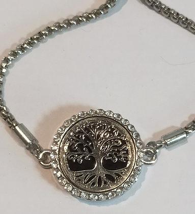 Bracelet aromathérapie chaîne réglable arbre de vie
