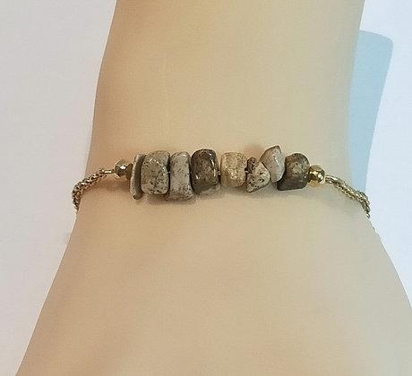 Bracelet doré/Jaspe picture