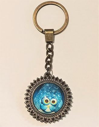 Porte-clés Hibou bleu