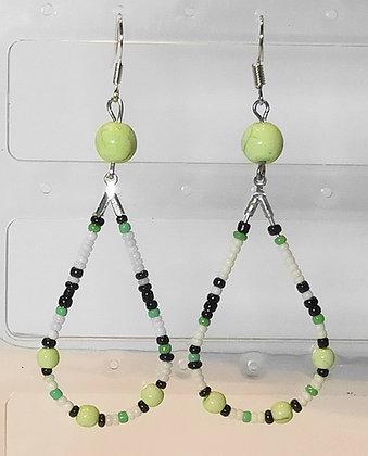 B.O.  goutes noir/blanc/vert