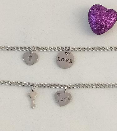 Bracelets chaîne couple/amitié 3mm