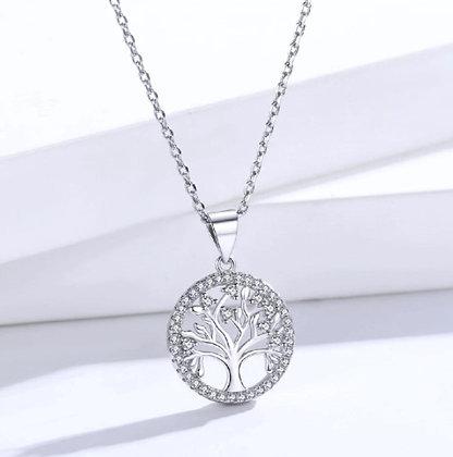 Chaîne/pendentif arbre de vie en argent