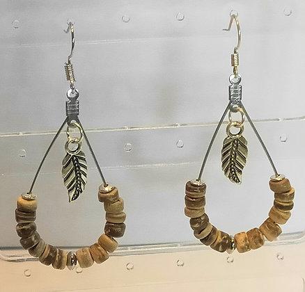 Boucles d'oreilles perles de coco
