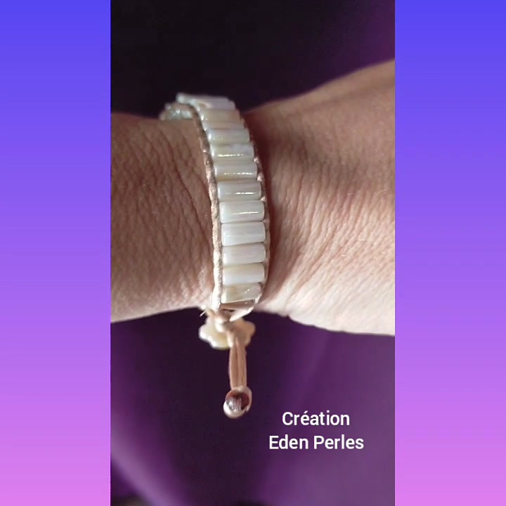 Bracelet perles de coquillages