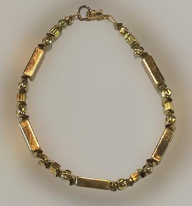 Bracelet hématite doré