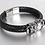 Thumbnail: Bracelet en cuir véritable avec Double tête de mort