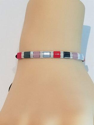 Bracelet duo multicouleur réglable