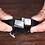 Thumbnail: Bracelet homme cuir et acier