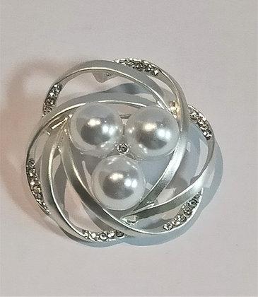 Broche 3 perles
