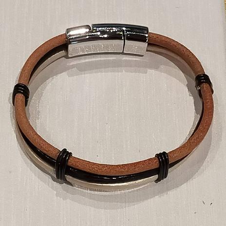 Bracelet 3 lanières cuir