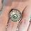 Thumbnail: Bague réglable ronde ying yang