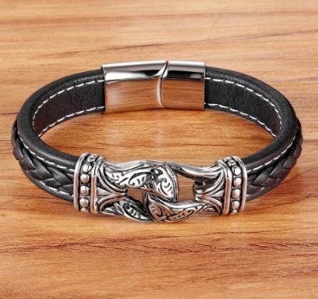 Bracelets en cuir véritable 17