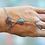 Thumbnail: Bracelet-bague lotus bleu