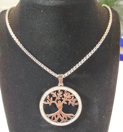 Chaîne/pendentif arbre de vie
