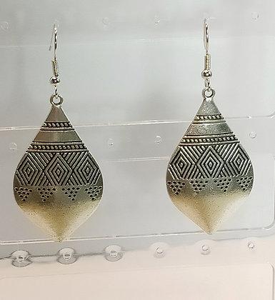 Boucles d'oreilles argenté/losange
