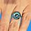 Thumbnail: Bague réglable Om bleu 2
