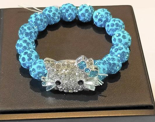 Bracelet enfant hello kitty bleu