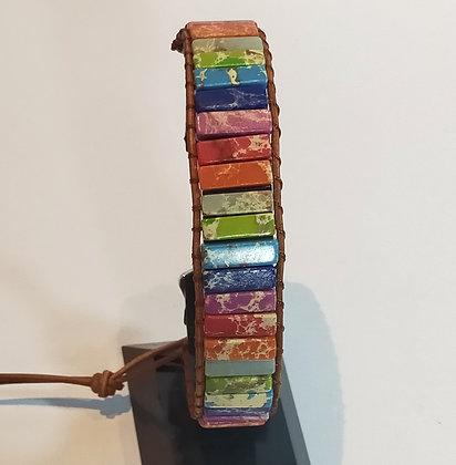 Bracelet en pierres naturelles multicolores