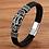 Thumbnail: Bracelet tendance en cuir véritable pour hommes 18