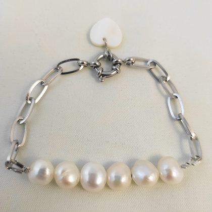 Bracelet en perles naturelles d'eau douce