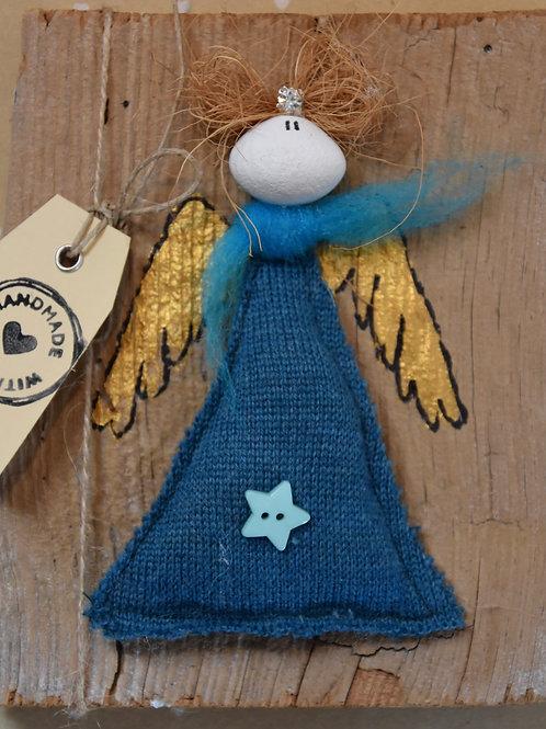 Engel Principessa auf Holz marine