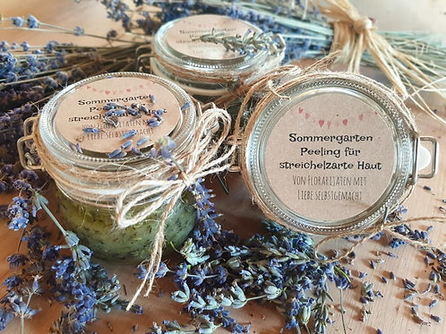 Sommergarten Peeling für streichelzarte Haut