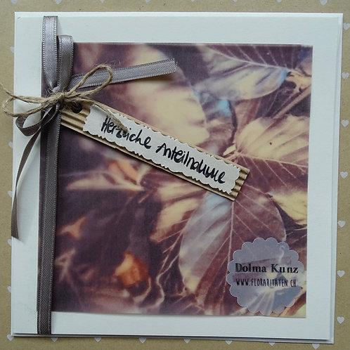 Trauerkarte Blätter