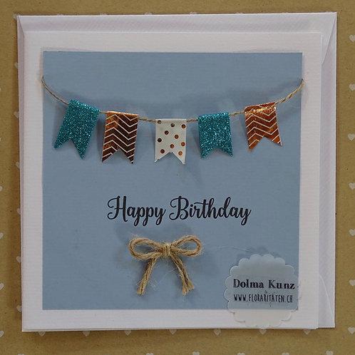 Geburtstagskarte blau