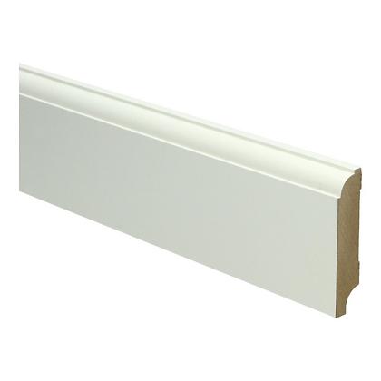 MDF Eigentijdse plint 70x15 wit voorgel. RAL 9010