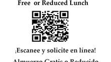 Free / Reduced Price Lunch Application***Solicitud De Almuerzo Gratis / Precio Reducido