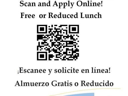 Free / Reduced Price Lunch Application***Solicitud De Almuerzo Gratis / Precio Reducido.