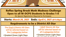 Spring Break Reflex Math Challenge