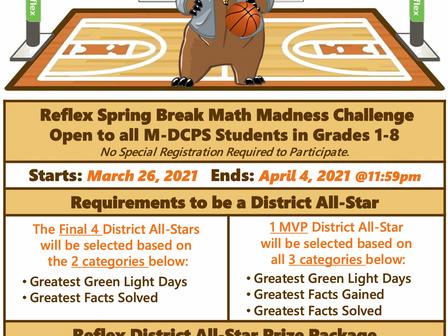 Spring Break Reflex Math Challenge