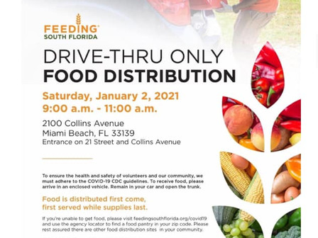 01/02/21 Food Distribution***2 de Enero: Distribución de Comida