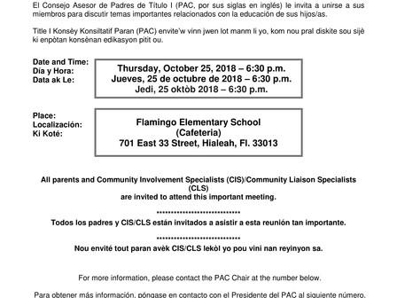 Regional Title I Parent Advisory Council (PAC)